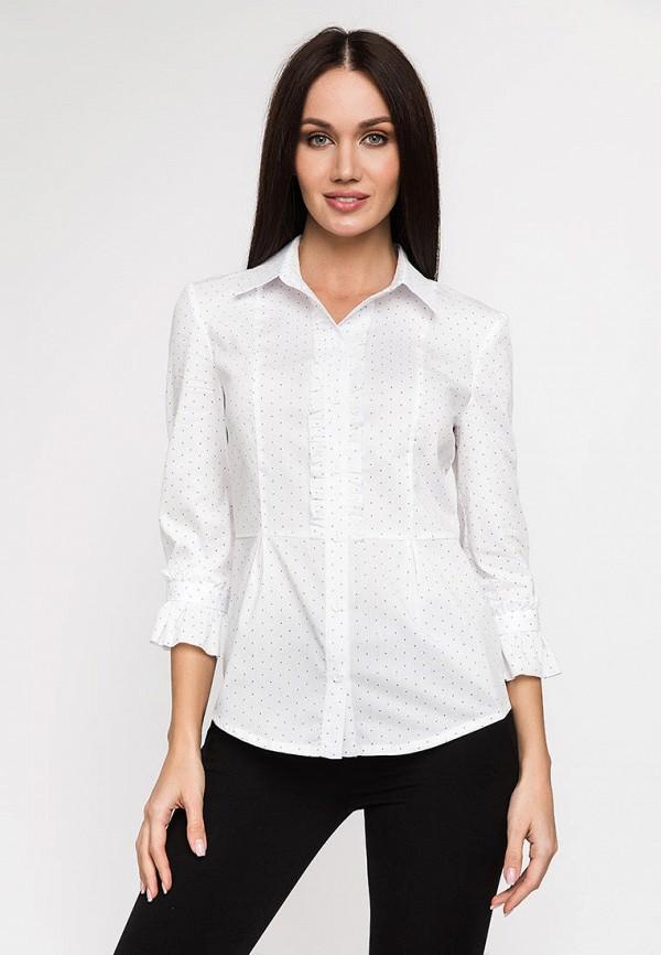 женская рубашка с длинным рукавом gloss, белая