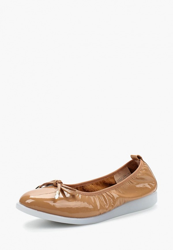 женские балетки berkonty, бежевые
