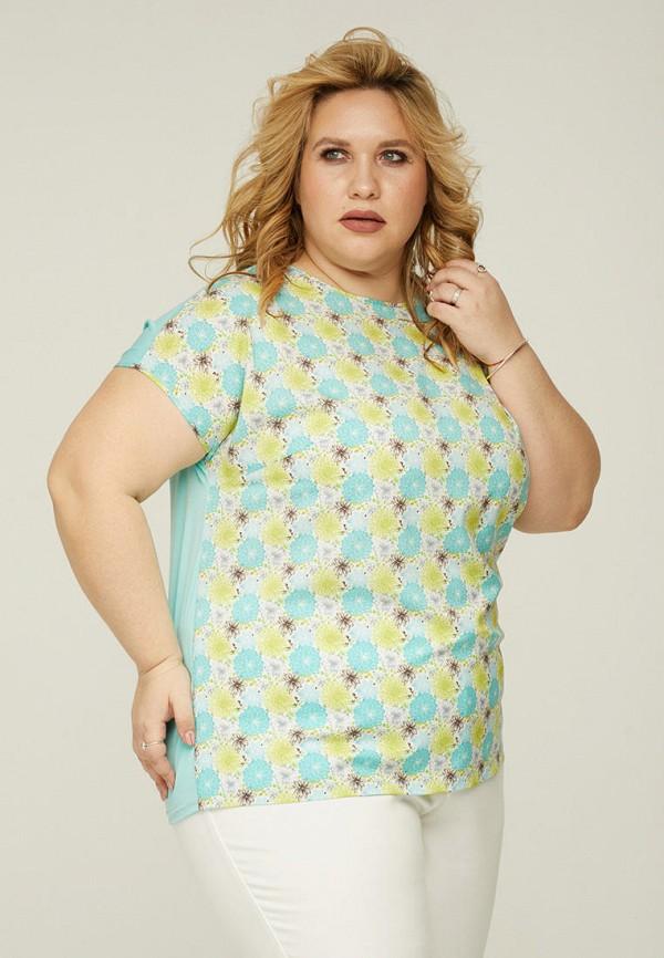 женская футболка gorda bella, бирюзовая