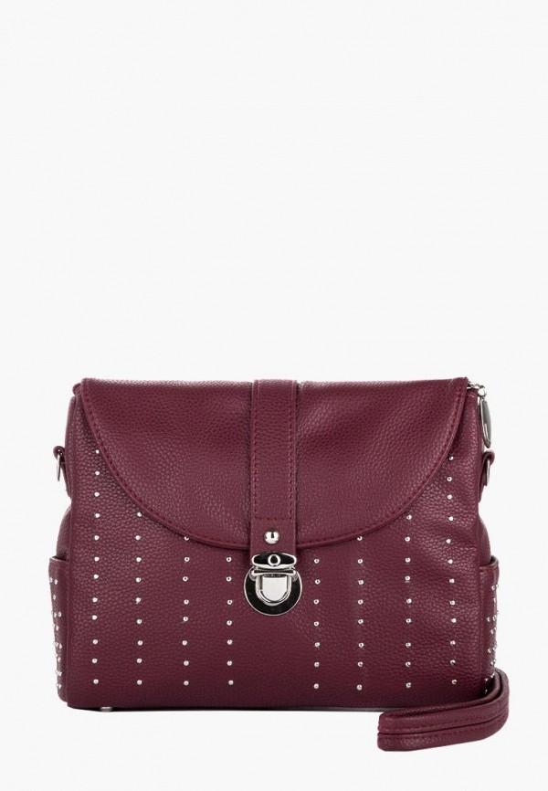 женская сумка l-craft, бордовая