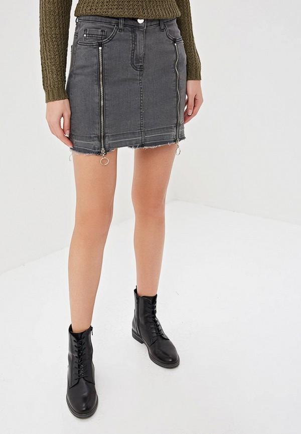 женская джинсовые юбка top secret, серая