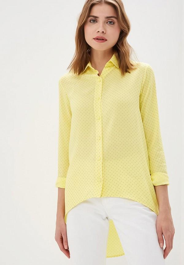 женская рубашка с длинным рукавом sahera rahmani, желтая