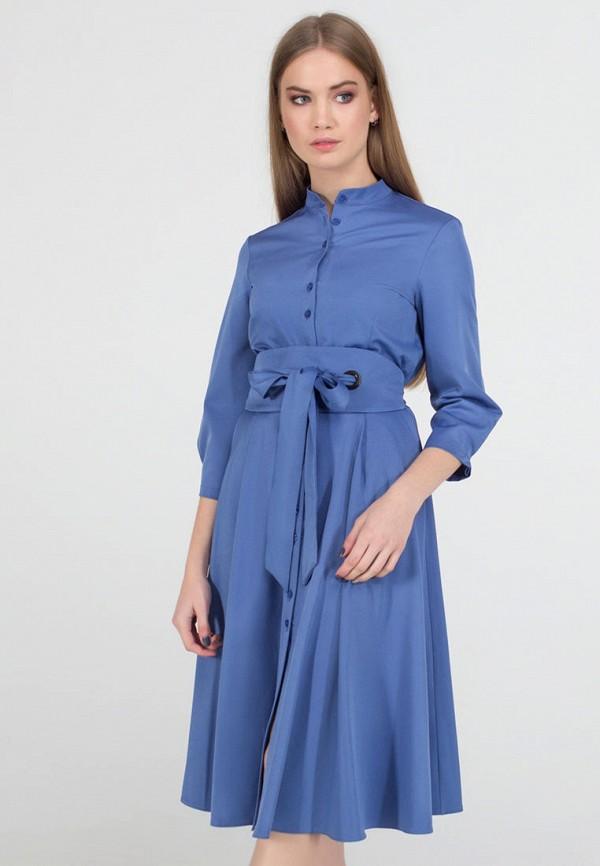 женское платье миди viravi wear, голубое