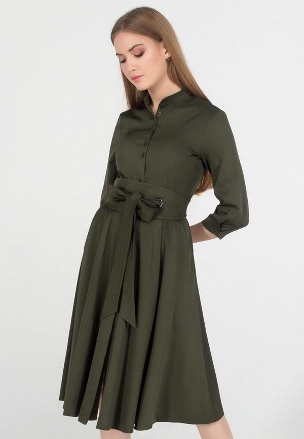 женское платье миди viravi wear, хаки