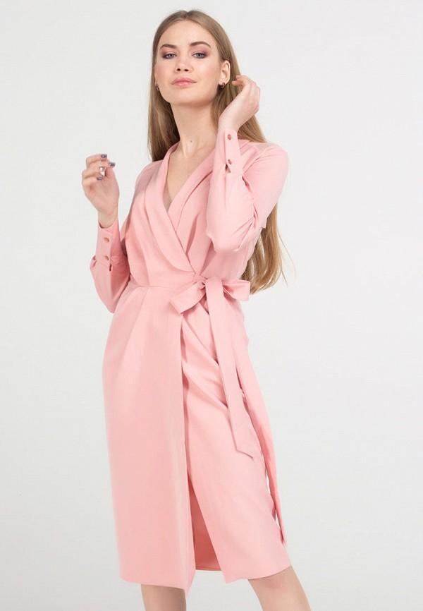 женское платье миди viravi wear, розовое