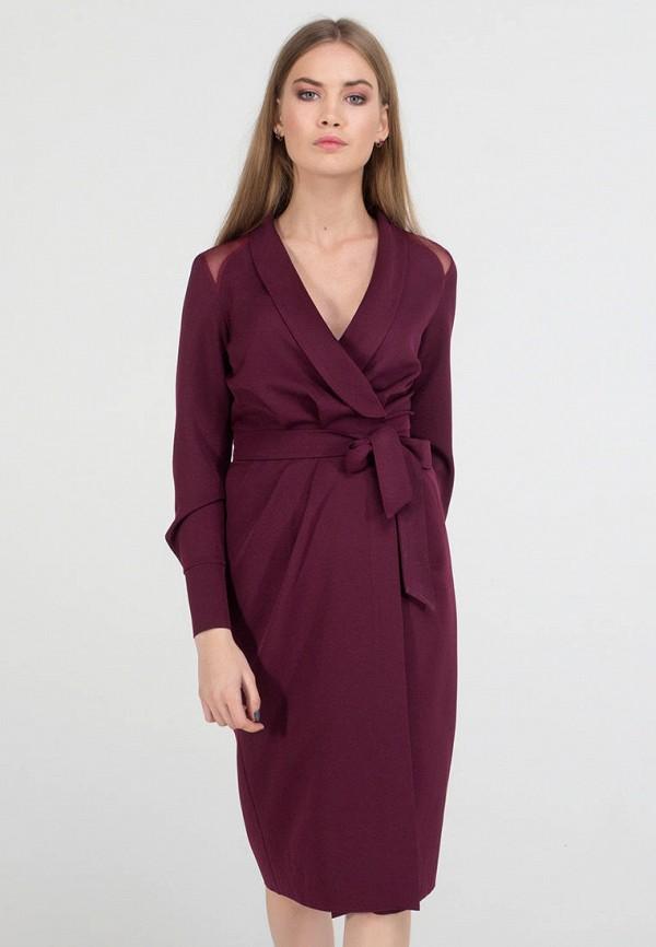 женское платье миди viravi wear, фиолетовое