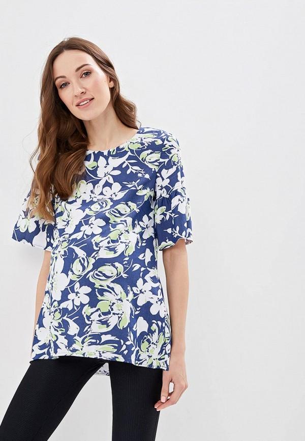 женская блузка очаровательная адель, синяя