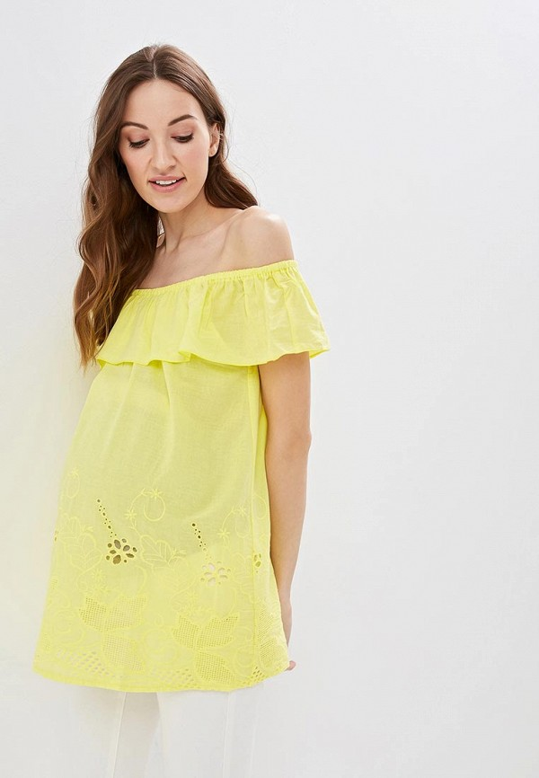 женская блузка очаровательная адель, желтая