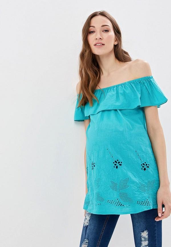 женская блузка очаровательная адель, бирюзовая