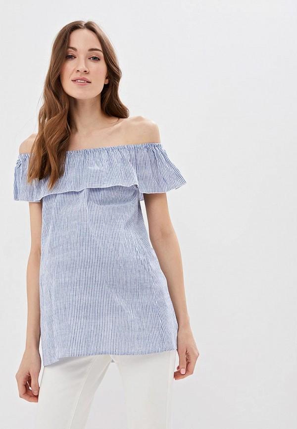женская блузка очаровательная адель, голубая