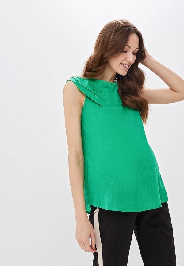 женская блузка очаровательная адель, зеленая