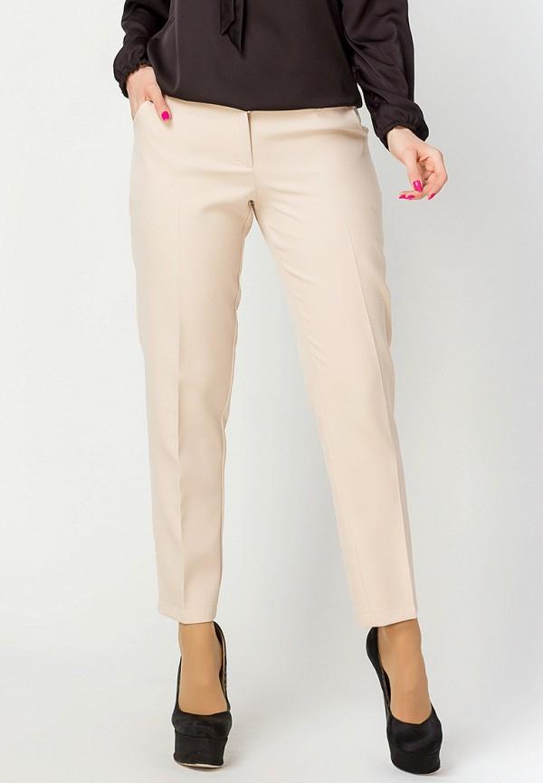 женские классические брюки leo pride, бежевые