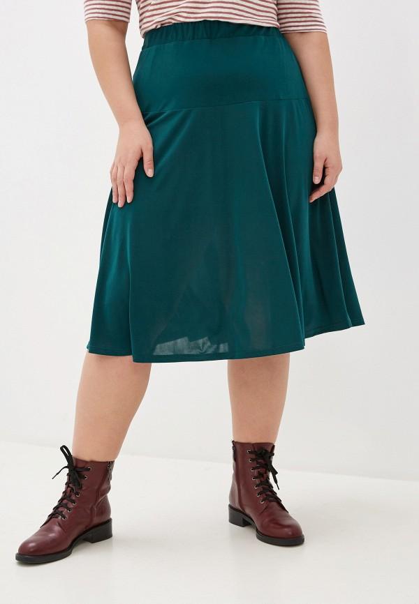 женская юбка-трапеции blagof, зеленая