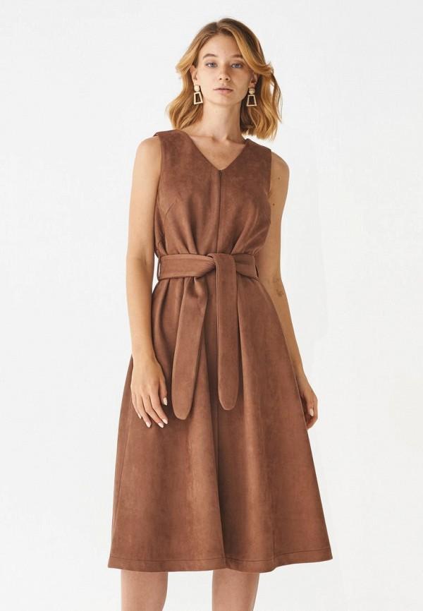женское платье alina assi, коричневое