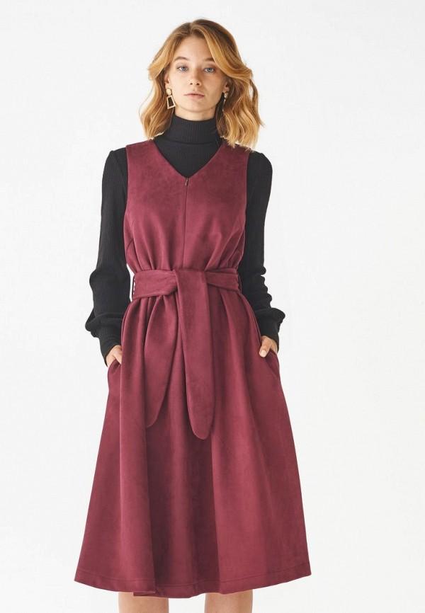 женское платье alina assi, бордовое