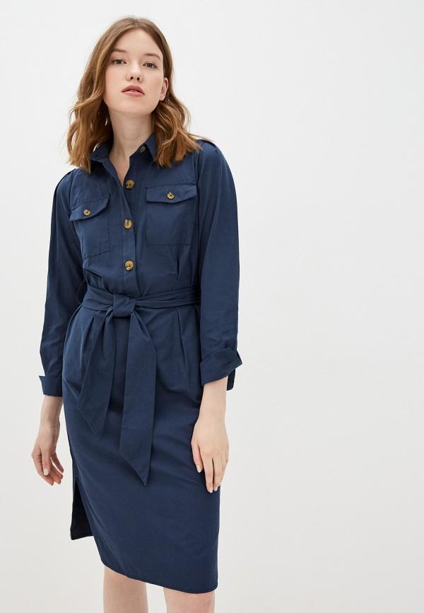 женское повседневные платье zarina, синее