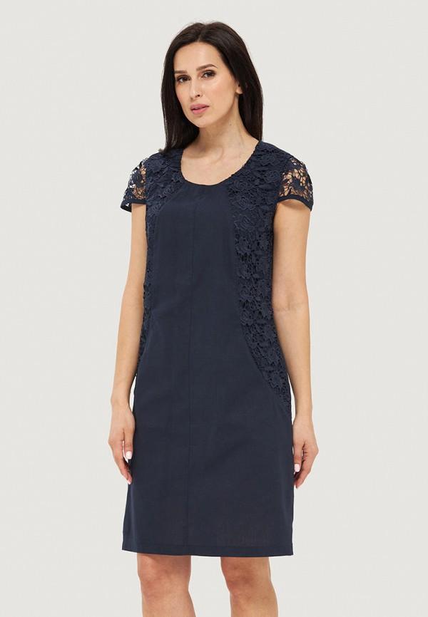 женское повседневные платье danna, синее