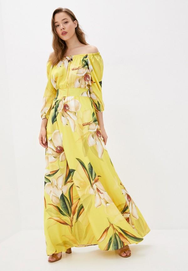 Платье Joymiss желтого цвета