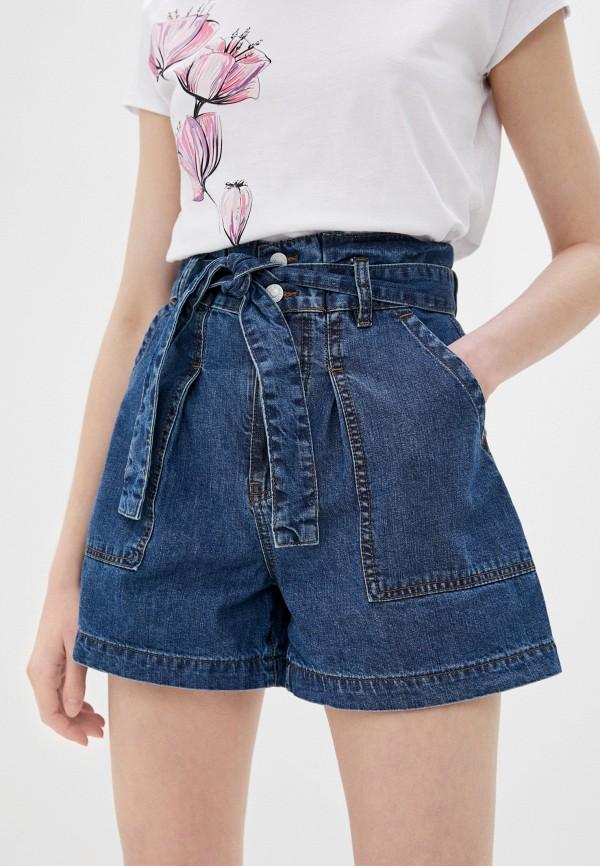 женские джинсовые шорты love republic, синие