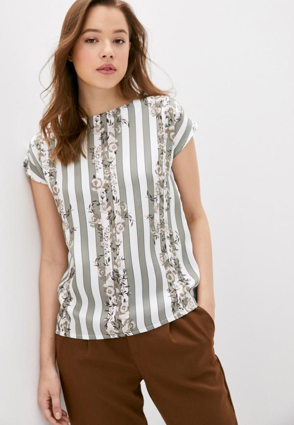 Блуза Анна Голицына цвет бирюзовый