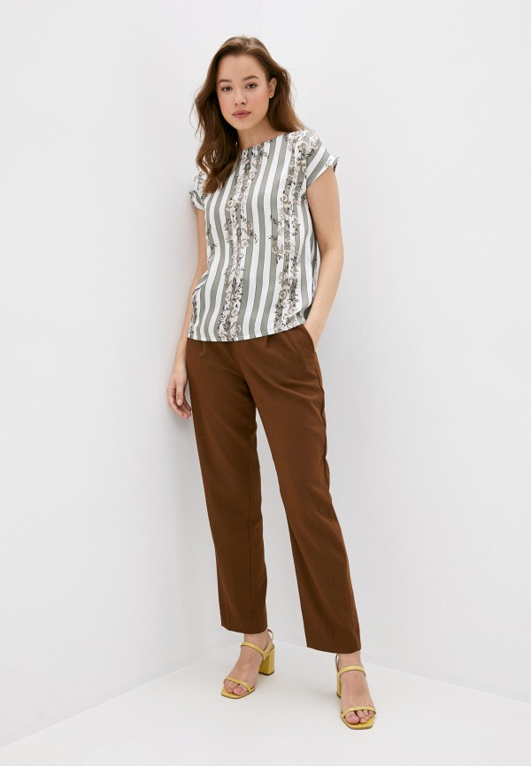 Блуза Анна Голицына цвет бирюзовый  Фото 2