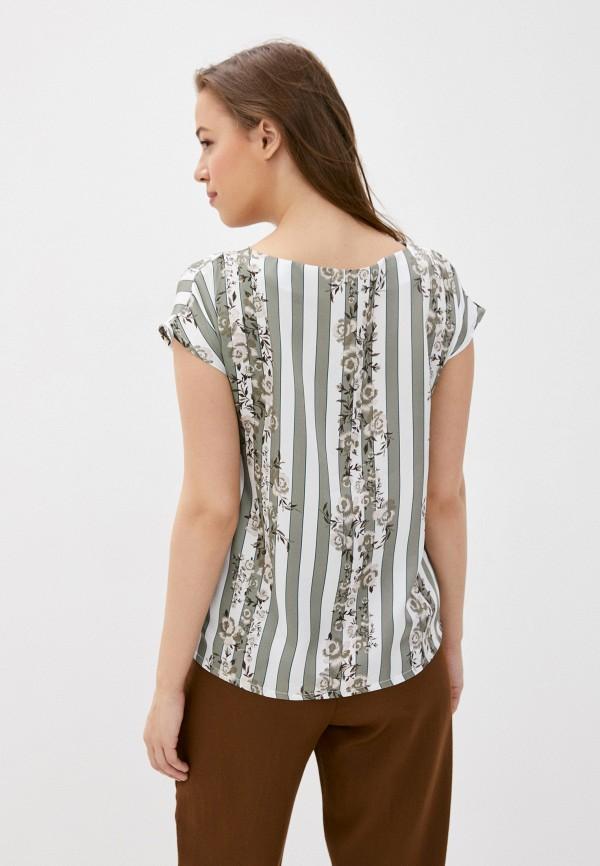 Блуза Анна Голицына цвет бирюзовый  Фото 3