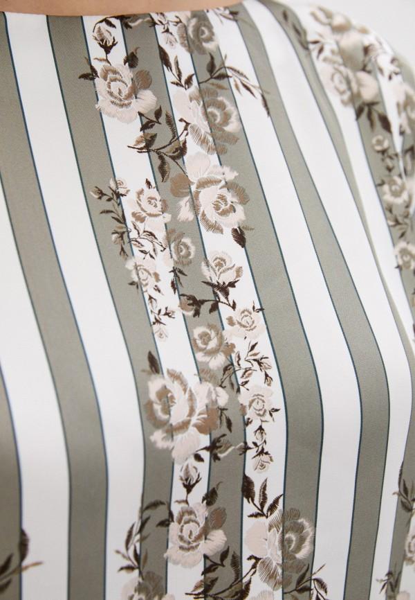 Блуза Анна Голицына цвет бирюзовый  Фото 4
