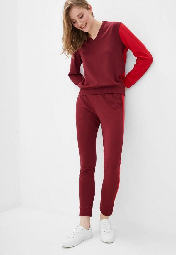 женский костюм muslin, бордовый