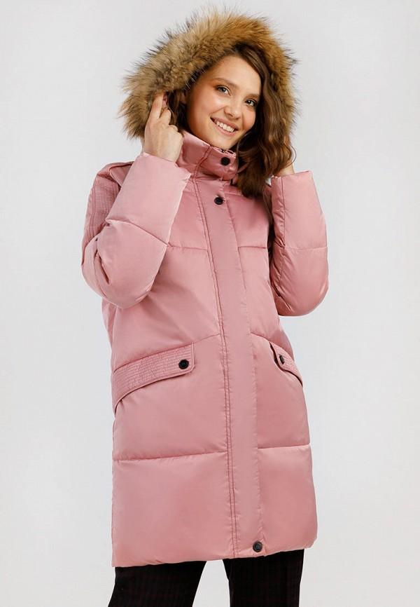 Куртка утепленная Finn Flare розового цвета