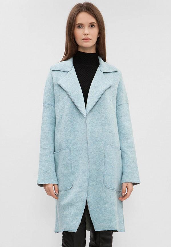 женское пальто preppy, голубое