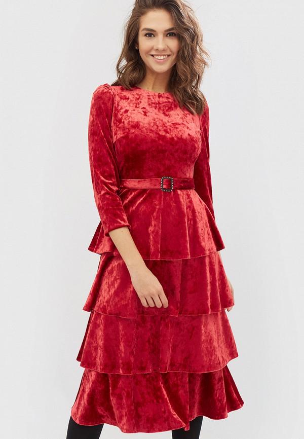 женское вечерние платье cardo, красное
