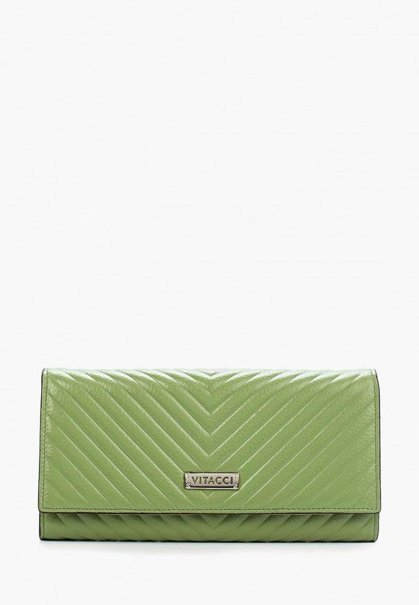 женский кошелёк vitacci, зеленый