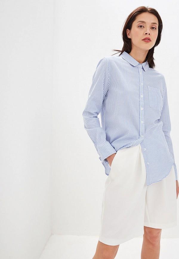 женская рубашка с длинным рукавом elardis, голубая