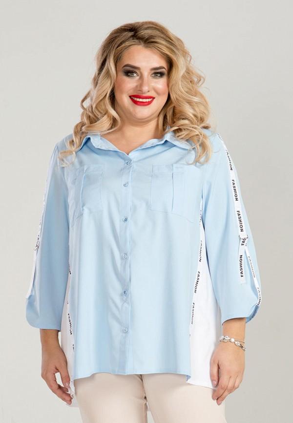 женская блузка luxury plus, голубая
