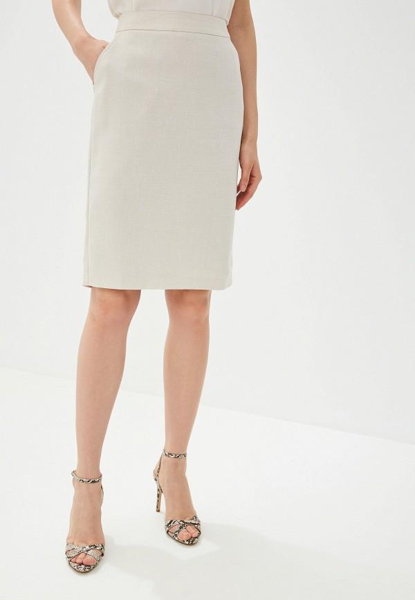Юбка Yuna Style Yuna Style MP002XW0WGU7 юбка трика бежевый оранжевый 54 размер