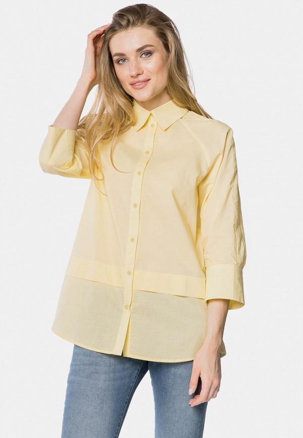 женская рубашка с длинным рукавом mr520, желтая
