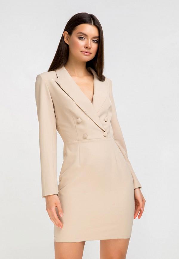 Платье Fors цвет бежевый