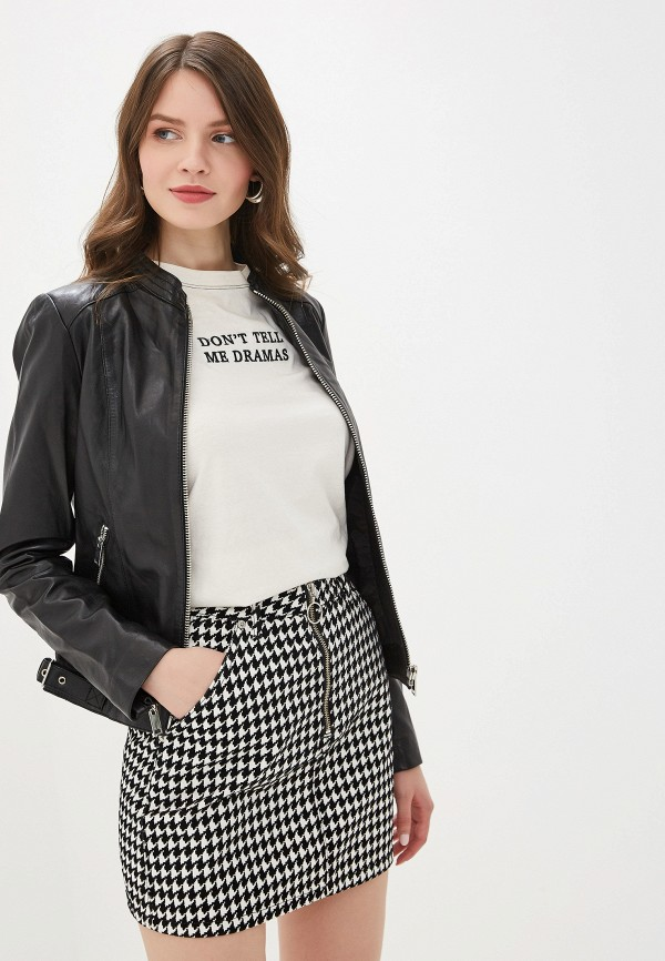 цена Куртка кожаная La Reine Blanche La Reine Blanche MP002XW0WNI6 онлайн в 2017 году