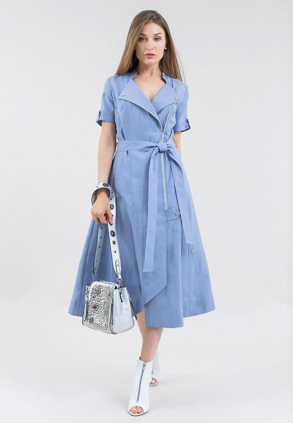 женское повседневные платье maxa, голубое