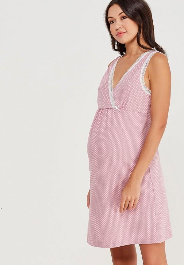 женские сорочка ночная hunny mammy, розовые