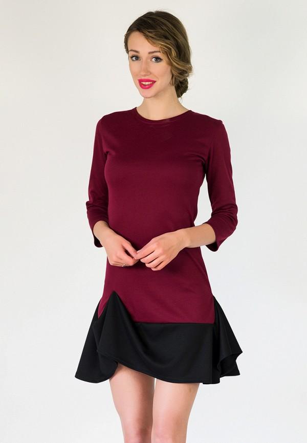 женское платье подіум, бордовое