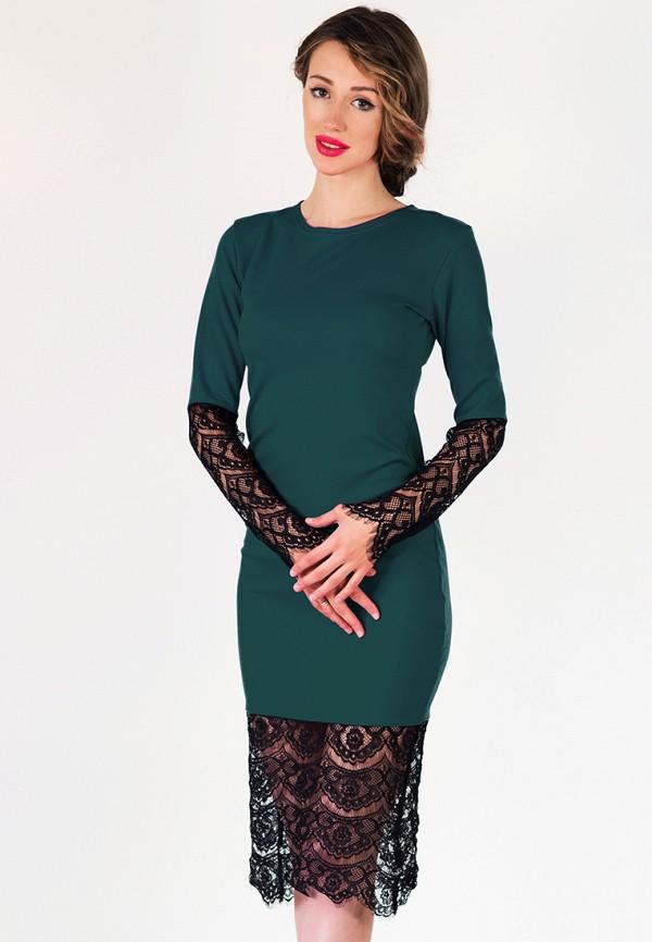 женское платье подіум, зеленое