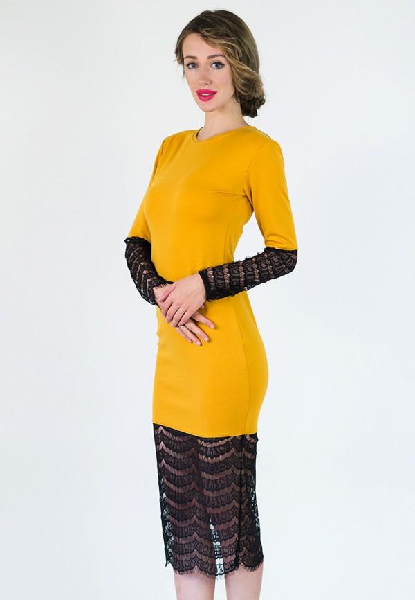 женское вечерние платье подіум, желтое