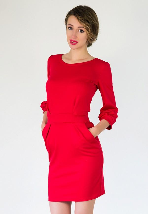 женское платье подіум, красное