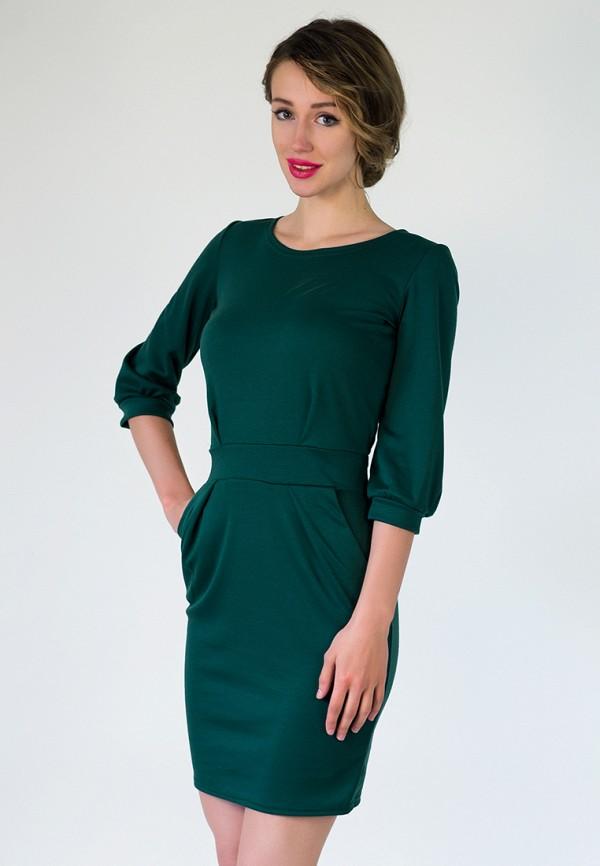 женское повседневные платье подіум, зеленое