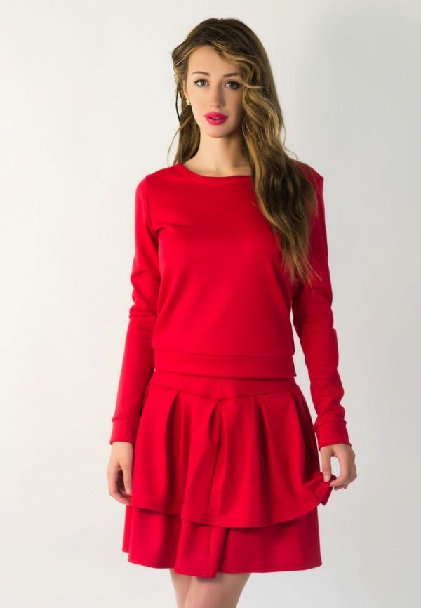 женский костюм подіум, красный