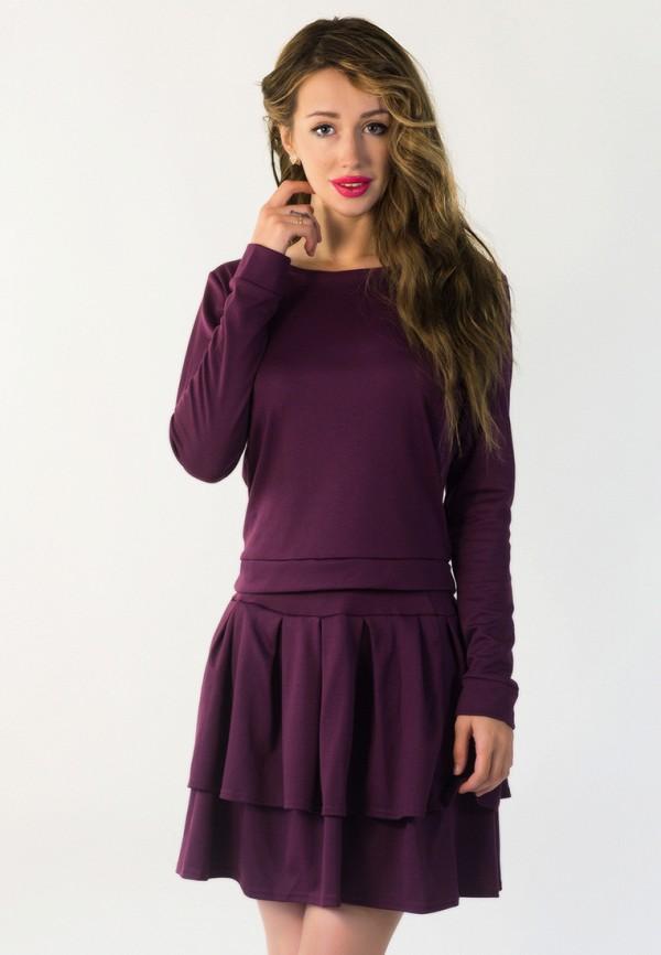 женский костюм подіум, фиолетовый