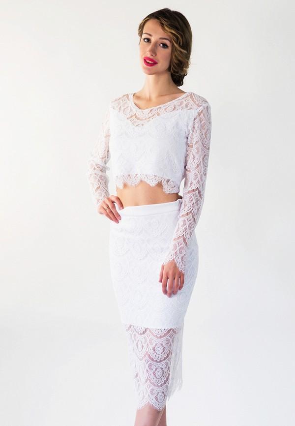 женский костюм подіум, белый