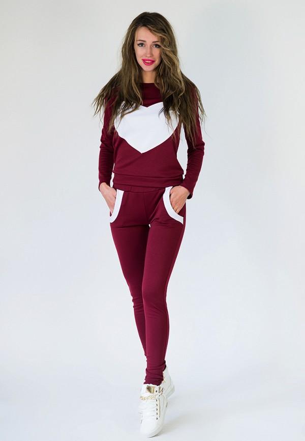женский спортивные спортивный костюм подіум, бордовый