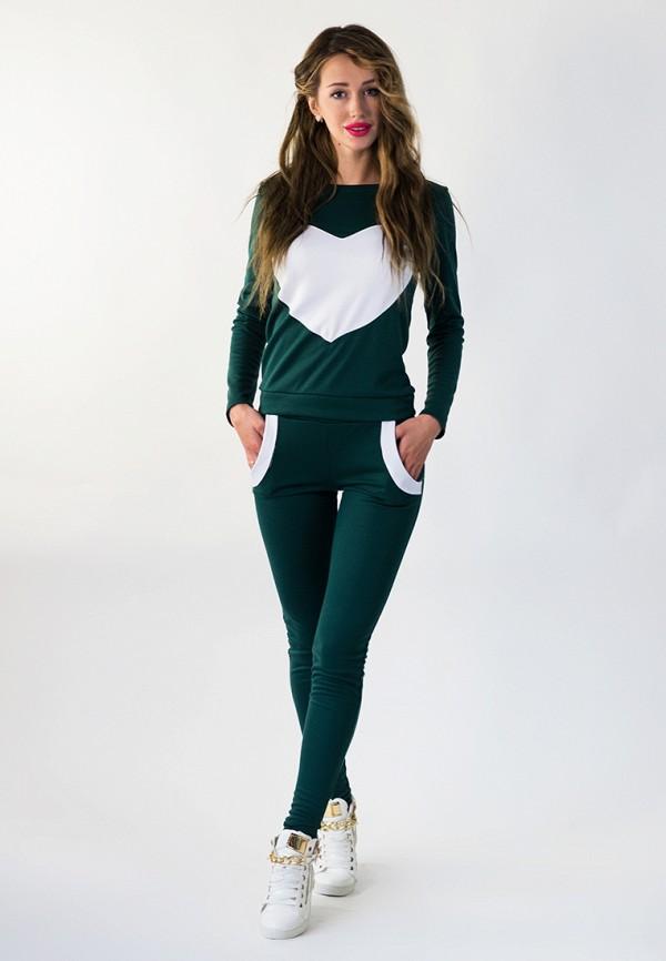 женский спортивные спортивный костюм подіум, зеленый